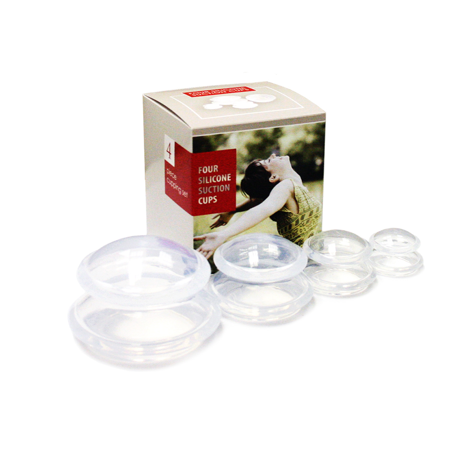 Transparent silicon set of 4