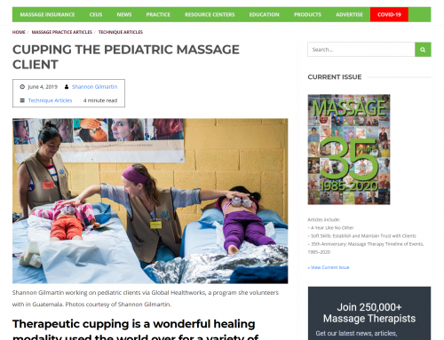 Article about us in Massage Magazine!